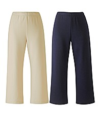 Pack 2 Jersey Crop Trousers Length 21in