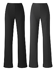 Petite Pack of 2 Trousers Length 26in