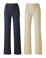 Pack 2 Trousers 27in