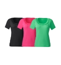 Pack of 3 Jersey Tops with Ruffle