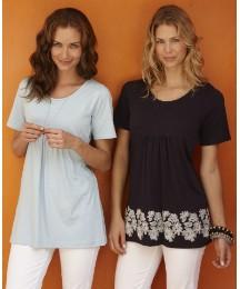 Pack of 2 Cotton Jersey Tunics