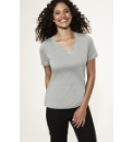V Neck Stud Detail Jersey T Shirt Top