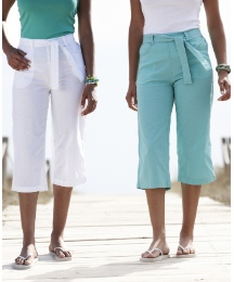 Pack of 2 Belted Crop Trousers 19in