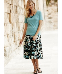 Skirt With T-Shirt & NecklaceLength 25in