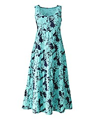 Print Jersey Dress Length 50in