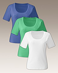 Pack of 3 Basic Cotton T-Shirts
