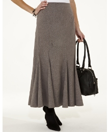 Mock Suede Print Skirt Length 27in