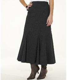 Mock Suede Print Skirt Length 33in