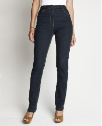Slim Leg Jeans With Belt Length 27in