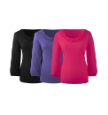 Pack of 3 Ruffle Neck Tops