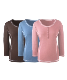 Pack of 3 Stitch Detail Tops