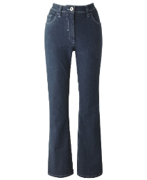 Embroidered Bootcut Jeans Length 30in