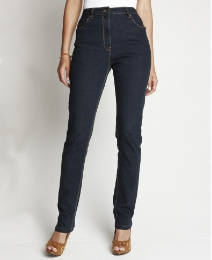 Slim Leg Jeans With Belt Length 29in