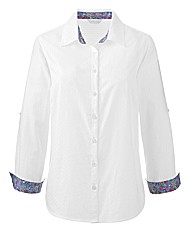 Cotton Shirt with Roll Up Sleeves