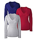 Pack of 3 V Neck Tops