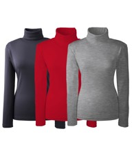 Pack of 3 Rollneck Tops