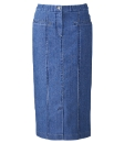 Denim Magi Fit Skirt Length 27in
