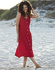 Plain Crinkle Dress Length 45in