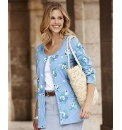 Print Cardigan With Button Placket