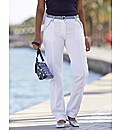 Trousers With Striped Belt Length 29in