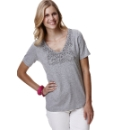 V- Neck Jersey Top