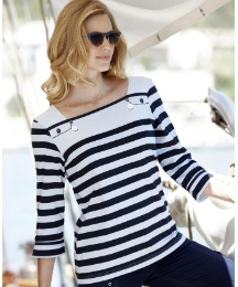 Alice Collins Stripe Jersey Top