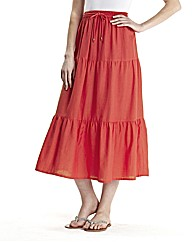 Linen Blend Skirt Length 25in