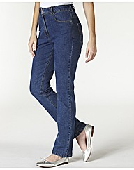 Petite Straight Leg Jeans Length 25in