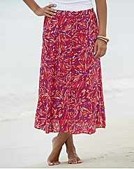 Print Crinkle Skirt Length 29in