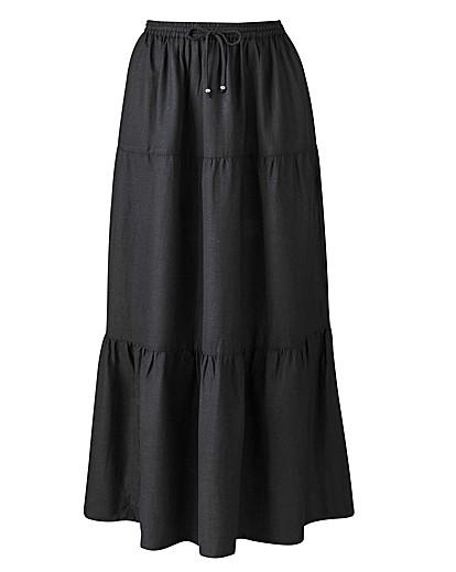 Linen Blend Skirt Length 30in