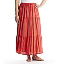 Linen Blend Skirt Length 33in