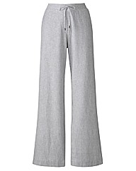 Linen Mix Trousers Length 25in