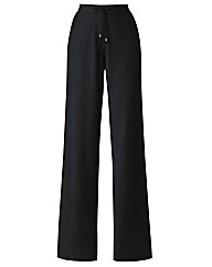 Linen Blend Trousers Length 25in