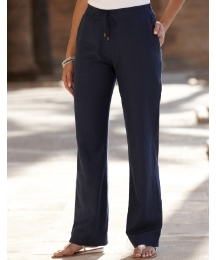 Linen Mix Trousers Length 31in