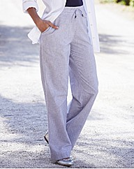 Linen Blend Trousers Length 27in