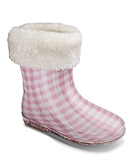 Trespass Girls Check Infant Welly Boots