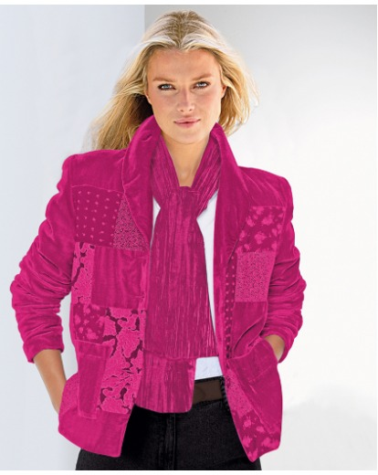 Product photo of Changes by together patchwork jacket