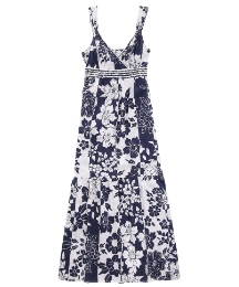 Joanna Hope Crinkle Print Maxi Dress