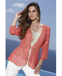 Joanna Hope Beaded Jacket 60cm