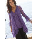 Joanna Hope Frill Hem Lace Jacket