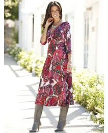 Joanna Hope Paisley Print Dress