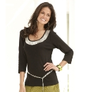 Joanna Hope Beaded Jersey Top