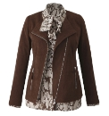 Joanna Hope Mock Suede Jacket