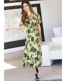 Joanna Hope Print Waterfall Dress