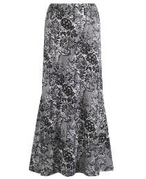 Joanna Hope Lace Print Jersey Skirt