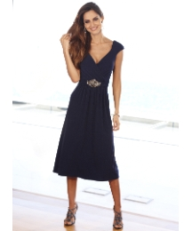 Joanna Hope Jewel Trim Dress