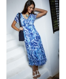 Fusions By East Feather Print Dress