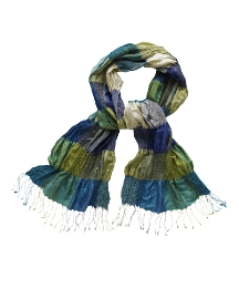Fusions By East Silk Scarf