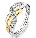 9 Carat Two-tone Gold Diamond Set Ring