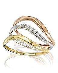 9 Carat Gold Three-colour Ring Set
